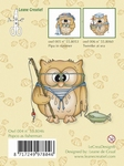 LeCreaDesign Clear stamp 558046 Owl Popco as Fisherman