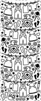Stickervel PickUp 324 Baby kleertjes/waslijn