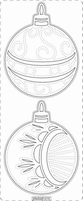 Kerst Stickervel PickUp Transp/borduur 375 kerstbal rond