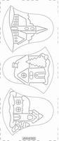 Kerst Stickervel PickUp Transp/borduur 503 Kerstklok