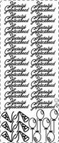 Tekststicker PickUp 157 Hartelijk gefeliciteerd Ballon/hoed