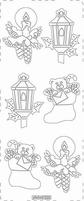 Kerst Stickervel PickUp Transp/borduur 520 Lantaar/kaars/sok