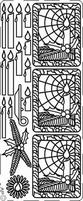 Kerststicker PickUp 3D 050 Kerstkaars