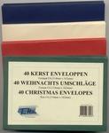 40 Enveloppen Maat C6 - 4 Kerst Kleuren