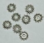Metaalkraal spacer Antiek Silver 9x2mm x 15