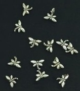 Metaalkraal Antiek Silver libelle 8x8mm x 15