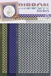 JeJe Ribbon stickers 3.9874 Stars blue/zilver/goud