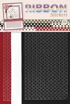 JeJe Ribbon stickers 3.9869 Polka dots red/black/wit