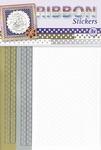 JeJe Ribbon stickers 3.9875 Stars goud/zilver/wit