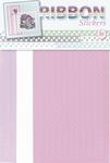 JeJe Ribbon stickers 3.9873 Flowers lila/roze/wit