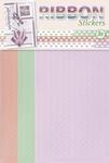 JeJe Ribbon stickers 3.9877 Butterflies lila/zalm/lichtgroen