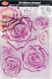 Clearstamp Viva My Paperwolrd 6792 3D Rose