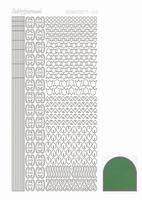 Stickervel Hobbydots Mirror STDM122 groen