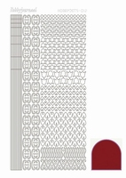 Stickervel Hobbydots Mirror STDM124 rood