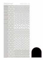 Stickervel Hobbydots Adhesive STDA123 zwart