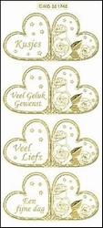 Sticker Doodey transparant MD351745 Mini kaart Hartje kusjes