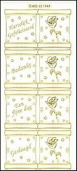 Sticker Doodey transparant MD351747 Mini kaart Rol bedankt