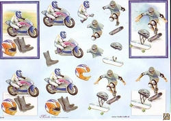 Knipvel A4 Mireille E548 Sport Moto/skateboard