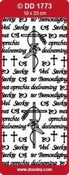 Doodey Stickervel DD1773 Sterkte/Met Oprechte Deelneming