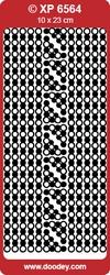 Doodey Stickervel Holografisch XP6564 Kaders&Hoekjes rood