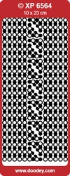 Doodey Stickervel Holografisch XP6564 Kaders&Hoekjes zilver
