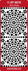 Doodey Stickervel Holografisch XP6878 Polka Dots rood