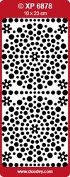 Doodey Stickervel Holografisch XP6878 Polka Dots zilver