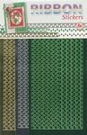 JeJe Ribbon stickers 3.9878 Christmas trees goud/groen/zilve