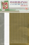 JeJe Ribbon stickers 3.9879 Christmas trees goud/wit/zilver