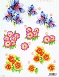 A4 Line Stansvel 992 Roze/geel/oranje bloemen