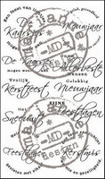 MD Clear stamps CS0854 Christmas tekst