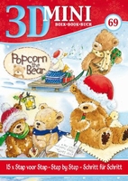 Studio Light 3D Mini pyramids boek 58 Kerst Popcorn the Bear