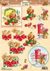 A4 Kerstknipvel Studio Light PTB1148 Popcorn the Bear