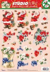 A4 Stansvel Studio Light Kerst SL 313 Kerstman/kerstbloemen