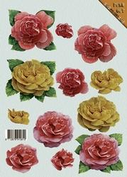 A4 Stansvel Push-Out PO61 Bloemen rozen
