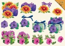 VBK 3D PushOut PO54 Bloemen met cadootje