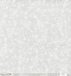 12x12 Glitter Vellum 163205 Holly Flourish