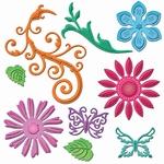 Spellbinders S5-143 Shapeabilities Jewel Flowers Flourishes
