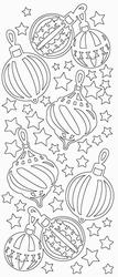 Stickervel Sticky Shapes STS-0146 Kerstballen - grootformaat