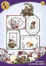 Hobbydots 15 - Kerst Koetje + 6 stickers