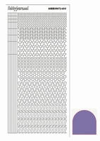 Stickervel Hobbydots Mirror STDM139 purper/paars