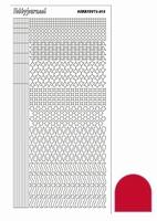 Stickervel Hobbydots Mirror STDM134 rood