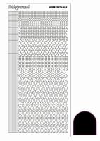 Stickervel Hobbydots Adhesive STDA133 zwart