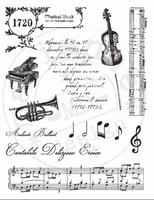 MD Clear stamps CS0860 La musique