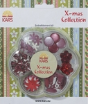 Kars X-mas collection Embellishment kit rood en wit