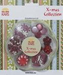 Kars X-mas collection Embellishment kit rood en wit