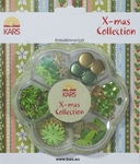 Kars X-mas collection Embellishment kit groen en goud