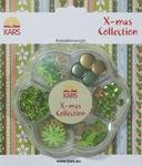 Kars X-mas collection Embellishment kit groen en goud