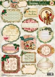 A4 Stansvel Studio Light Kerst SL 318 Labels