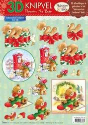 A4 Kerstknipvel Studio Light PTB18 Popcorn the Bear